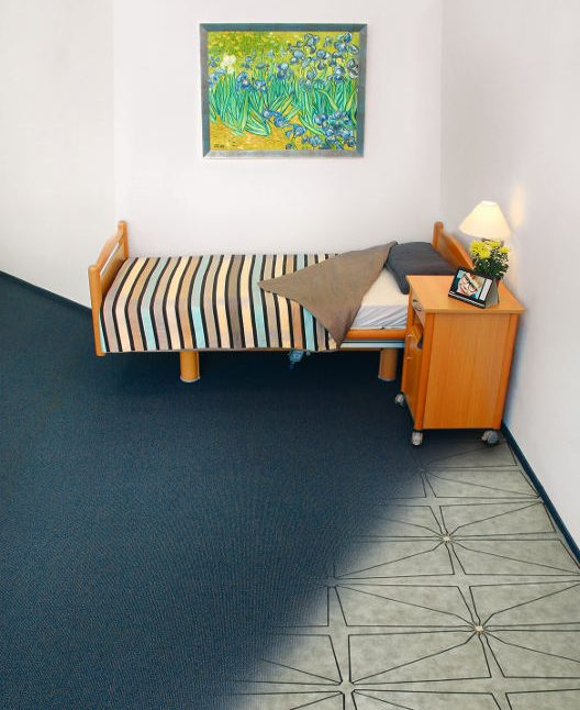 Room in a care home with SensFloor