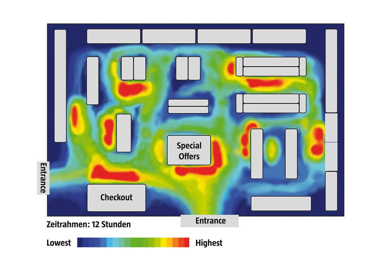 Heatmap für den Retail mit SensFloor Activity